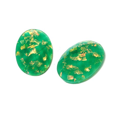 Resin Flat Back Oval 18x13mm