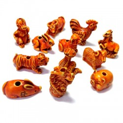Resin Chinese Horoscope (12 pieces assorted)
