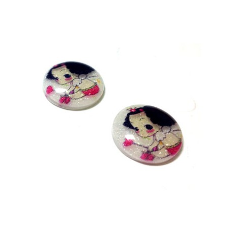 Resin Flatback With Prints 15mm