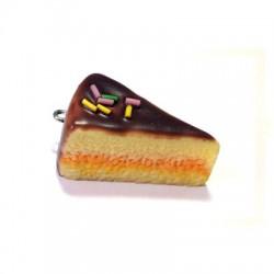 Ciondolo Torta di Cioccolato in  Resina 34mm