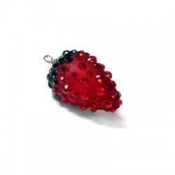 Resin Strawberry 24x15mm