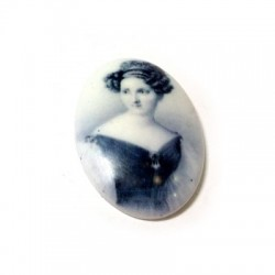 Cabochon Ovale Stampato in Resina 30x45mm