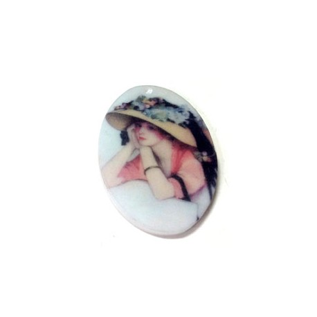Resin Flatback Oval 29x39mm