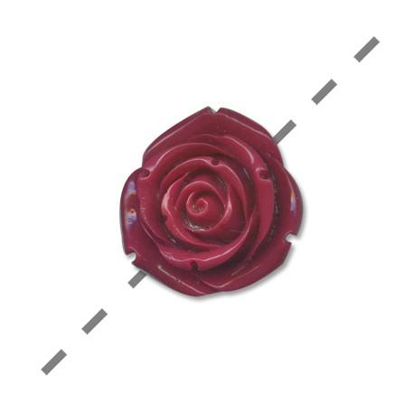 Πολυεστερικό Στοιχείο Λουλούδι Τριαντάφυλλο Περαστό 35mm