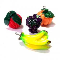Ciondoli Frutta in Resina Misti
