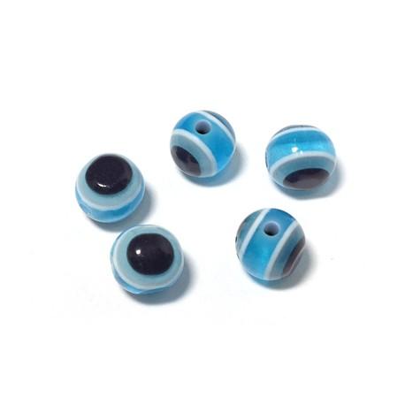 Πολυεστερική Χάντρα Μάτι 6mm (Ø1.5mm)