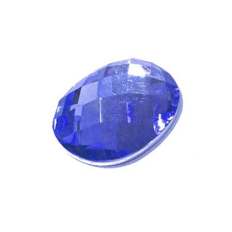 Resin Flatback Oval Shiny 18x25mm