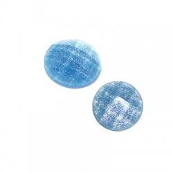 Cabochon Rotondo Sfaccettato Effetto Glitter in Resina 10mm