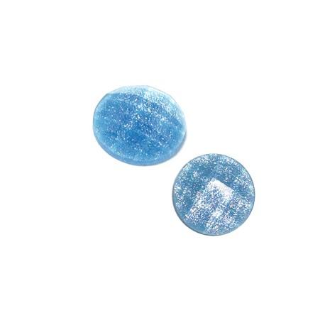 Resin Flatback Round Glitter 10mm