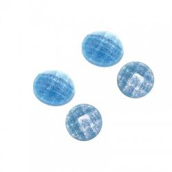 Cabochon Rotondo Sfaccettato Effetto Glitter in Resina 8mm