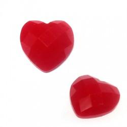 Resin Heart Flatback 12mm