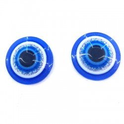 Resin Flat Back Round Eye 10mm
