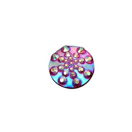 Resin Round Cabochon With Strass 16mm