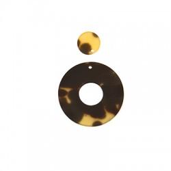 Resin Pendant Round 36mm & 15mm (2pcs/Set)