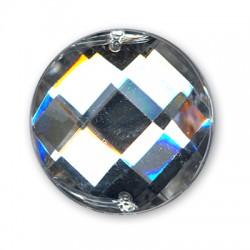 Ακρυλική Πέτρα Στρογγυλή Πολυεδρική για Ράψιμο 27mm
