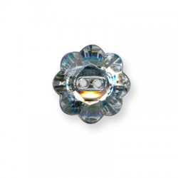 Acrylic Button Flower 15mm