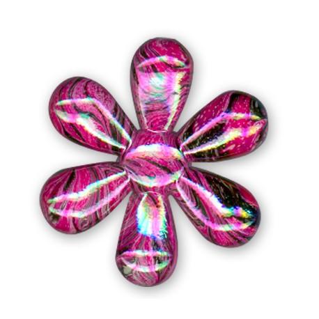 Acrylic AB plated Flower 34mm