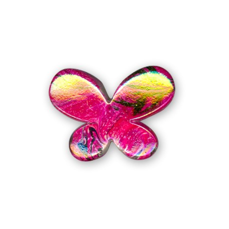 Acrylic AB plated Butterfly 21x29mm
