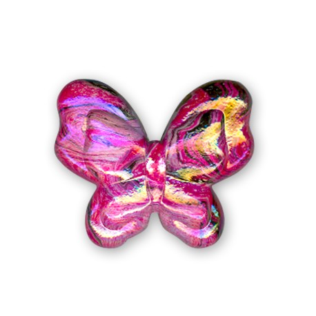 Acrylic AB plated Butterfly 35x28mm