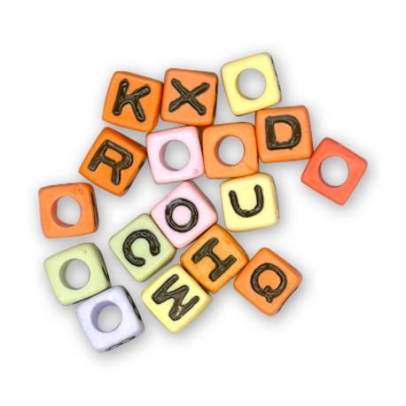 Cubo con Lettera Alfabeto in Acrilico 7mm