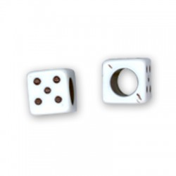 Ακρυλικό Στοιχείο Κύβος Ζάρι Αριθμός 8mm (Ø4mm)