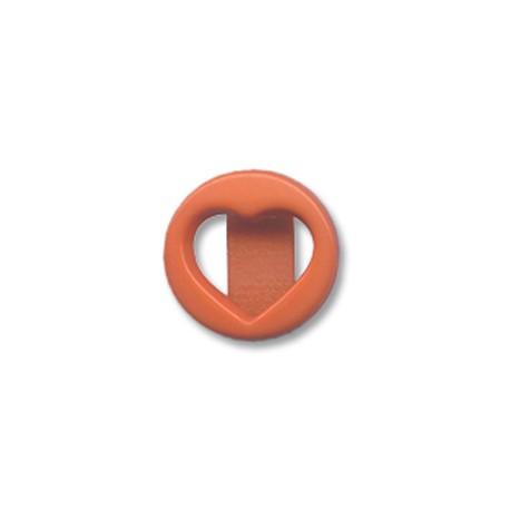 Ακρυλικό Στοιχείο Καρδιά Περαστή 18mm (Ø15x4mm)