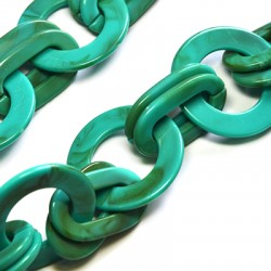Acrylic Chain Link Round 39mm & Oval 37x21mm
