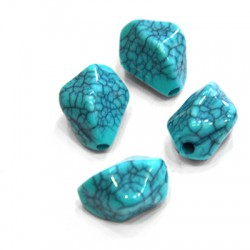 Acrylic Howlite Effect Irregular Bead (~17x22mm)