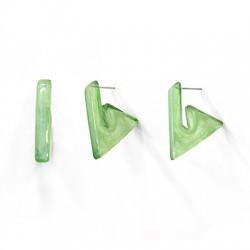 Acrylic Earring Geometrical Triange w/ Pin 22mm