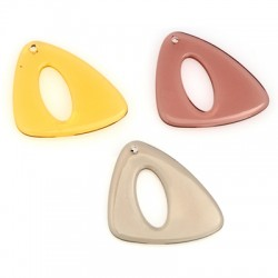Acrylic Pendant Triangle Irregular 35x37mm