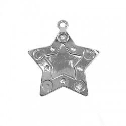Ακρυλικό Επιμεταλλωμένο Μοτίφ Αστέρι 40mm