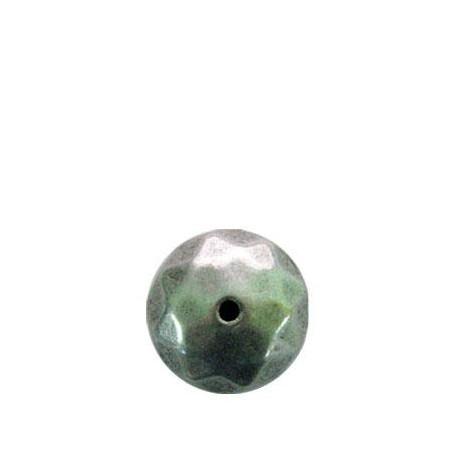 Ακρυλική Επιμεταλλωμένη Χάντρα Μπίλια Πολυεδρική 22x14mm