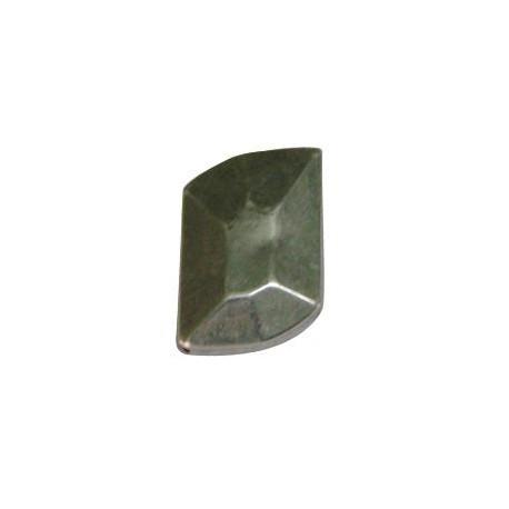 Ακρυλική Επιμεταλλωμένη Χάντρα Ακανόνιστη 22x31mm