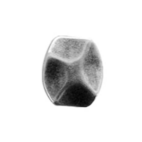 Ακρυλική Επιμεταλλωμένη Χάντρα Πλακέ Ακανόνιστη 27x32mm