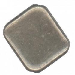 Ακρυλική Επιμεταλλωμένη Χάντρα Τετράγωνη Πλακέ 21.5x25mm