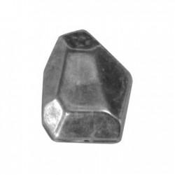 Ακρυλική Επιμεταλλωμένη Χάντρα Ακανόνιστη 20x26mm