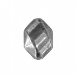 Passante Esagonale Sfaccettato in Argentone CCB 15x22mm