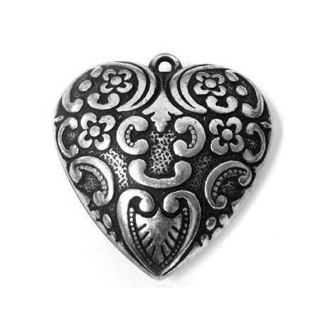 Ακρυλικό Επιμεταλλωμένο Μοτίφ Καρδιά 52mm
