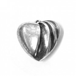 Ακρυλικό Επιμεταλλωμένο Μοτίφ Καρδιά 41mm