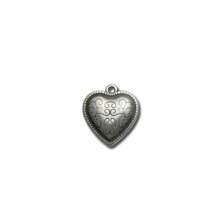 Ακρυλικό Επιμεταλλωμένο Μοτίφ Καρδιά 23mm