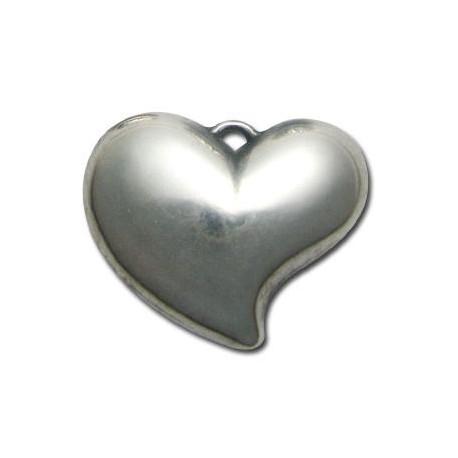 Ακρυλικό Επιμεταλλωμένο Μοτίφ Καρδιά 39x49mm