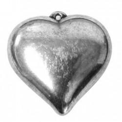 Ακρυλικό Επιμεταλλωμένο Μοτίφ Καρδιά 51mm
