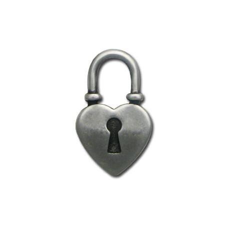 Ακρυλικό Επιμεταλλωμένο Μοτίφ Καρδιά Λουκέτο 27x43mm