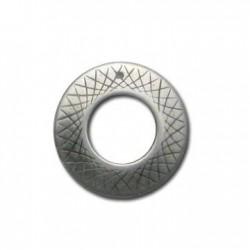 Ciondolo Anello Decorato in Argentone CCB 35mm