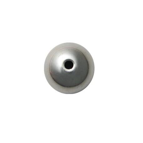 Perlina Liscia in Argentone CCB 25mm