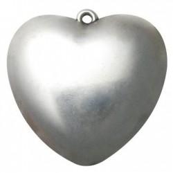 Ακρυλικό Επιμεταλλωμένο Μοτίφ Καρδιά 69mm