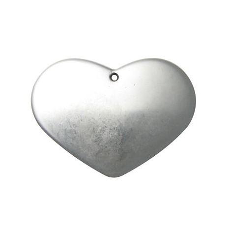 Ακρυλικό Επιμεταλλωμένο Μοτίφ Καρδιά 78mm