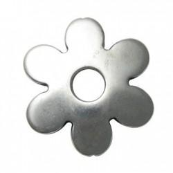Passante Ciondolo Fiore in Argentone CCB 58mm
