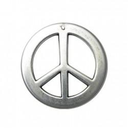 Ciondolo Segno della Pace in Argentone CCB 50mm