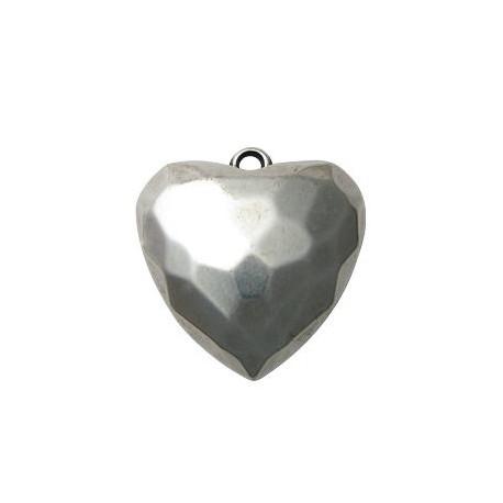 Ακρυλικό Επιμεταλλωμένο Μοτίφ Καρδιά 42mm